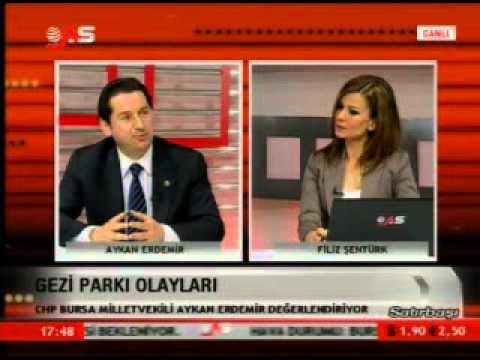 CHP Bursa Mv. Aykan Erdemir Gezi Parkı Direnişi'ni Satırbaşı'nda değerlendirdi (10 Haziran 2013)
