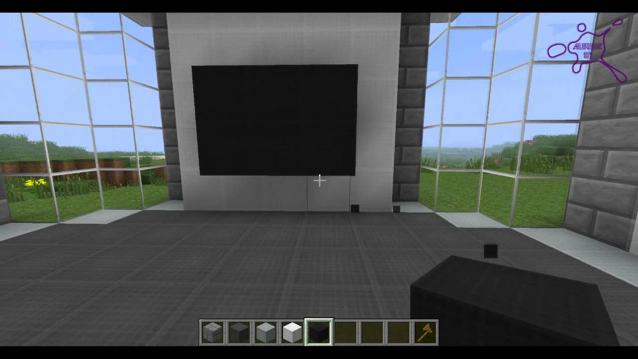 Minecraft tuto maison moderne n 4 youtube for Porte maison interieur moderne