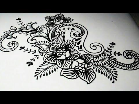 Menggambar Bunga Batik Kontenporer Batik Indonesia Youtube