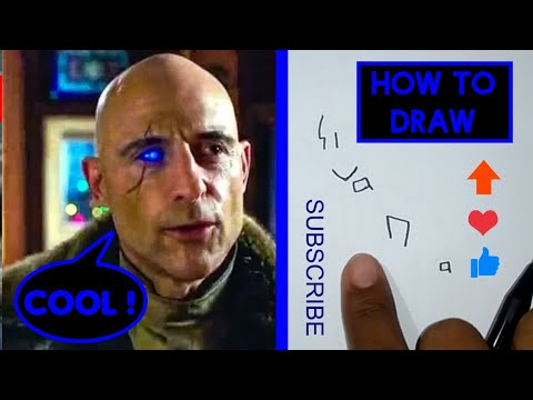 How To Draw Doctor Sivana From The Word Sivana (Shazam's Enemy)