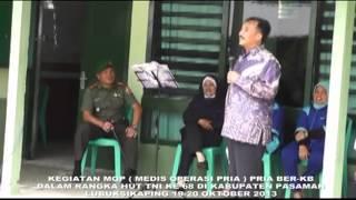 KODIM 0305 PASAMAN ADAKAN KEGIATAN AKSEPTOR MEDIS OPERASI PRIA (MOP)