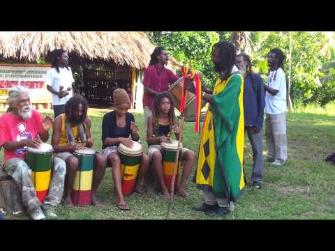 Nyabinghi chants early in the morning for Ethiopian New Year