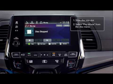 2018 Honda Odyssey: How To Use The Advanced  Rear Entertainment System