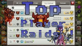 Clash Of Clans | Top 10 Ranked Player Raids ! EPIC ATTACK STRATEGY'S BY TOP PLAYERS ! MUST WATCH !