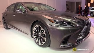 2018 Lexus LS500 - Exterior and Interior Walkaround - Debut at 2017 Detroit Auto Show