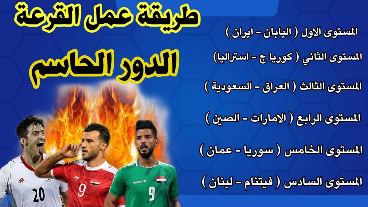 رسميا المنتخبات المتأهلة للدور الحاسم بتصفيات اسيا لكأس العالم + طريقة عمل القرعة الظالمة