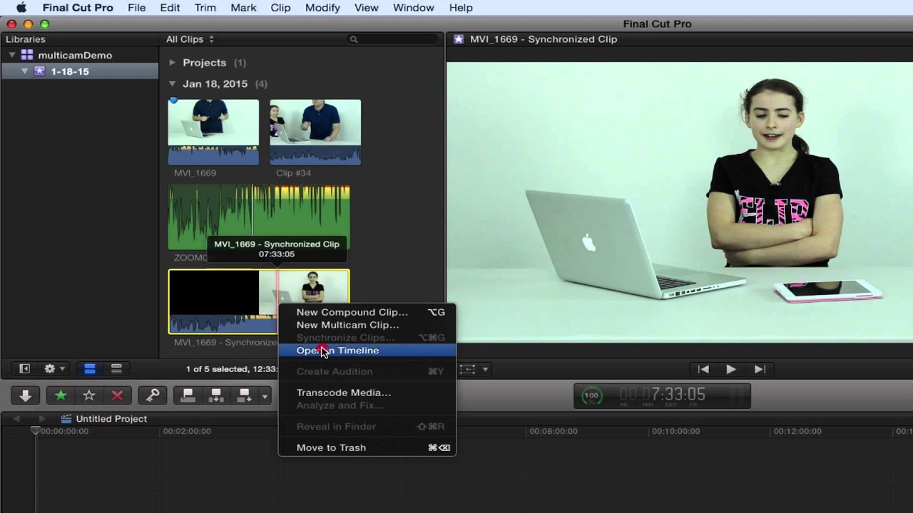 how to sync audio and video in final cut pro x youtube. Black Bedroom Furniture Sets. Home Design Ideas