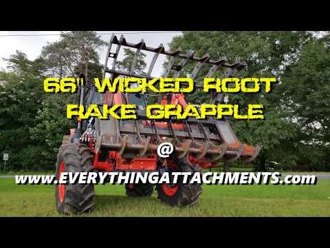 BIG Kubota Tractor Grapple Testing