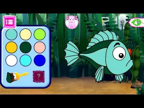 игра раскраска лунтик развивающие игры для детей - YouTube