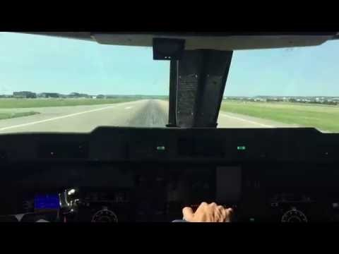 Gulfstream GIII in cockpit take-off from Centennial Airport (KAPA)
