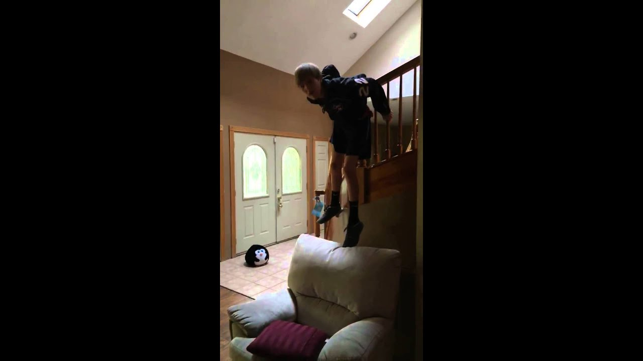 Funny Video: Jumping Off The Stairs Fail