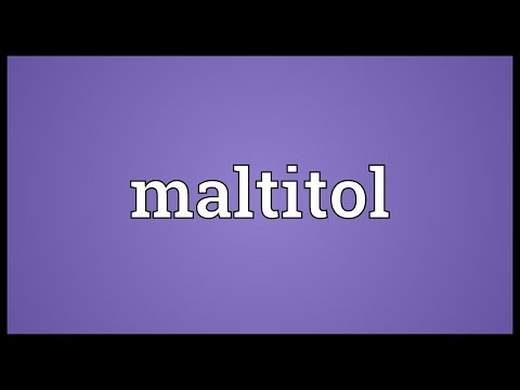 Maltitol Meaning