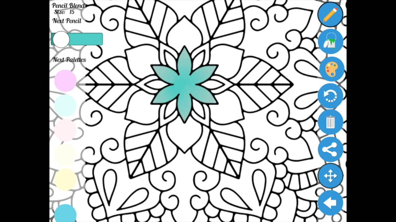 Zen coloring books for adults app - Zen Coloring App Usage Basic Instructions
