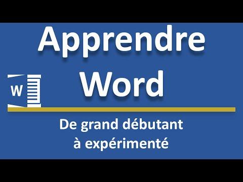 Créer Un Modèle De Page De Garde Word Youtube
