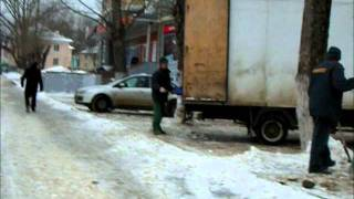 Суровые мордовские парни воруют снег
