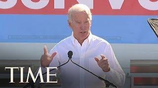 Former Vice President Joe Biden Says President Donald Trump Is