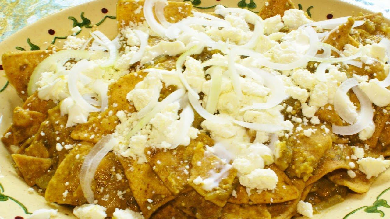 Receta de chilaquiles rpidos  Quick recipe chilaquiles