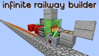 A easy and fast way to make infinite railways in your world while a...