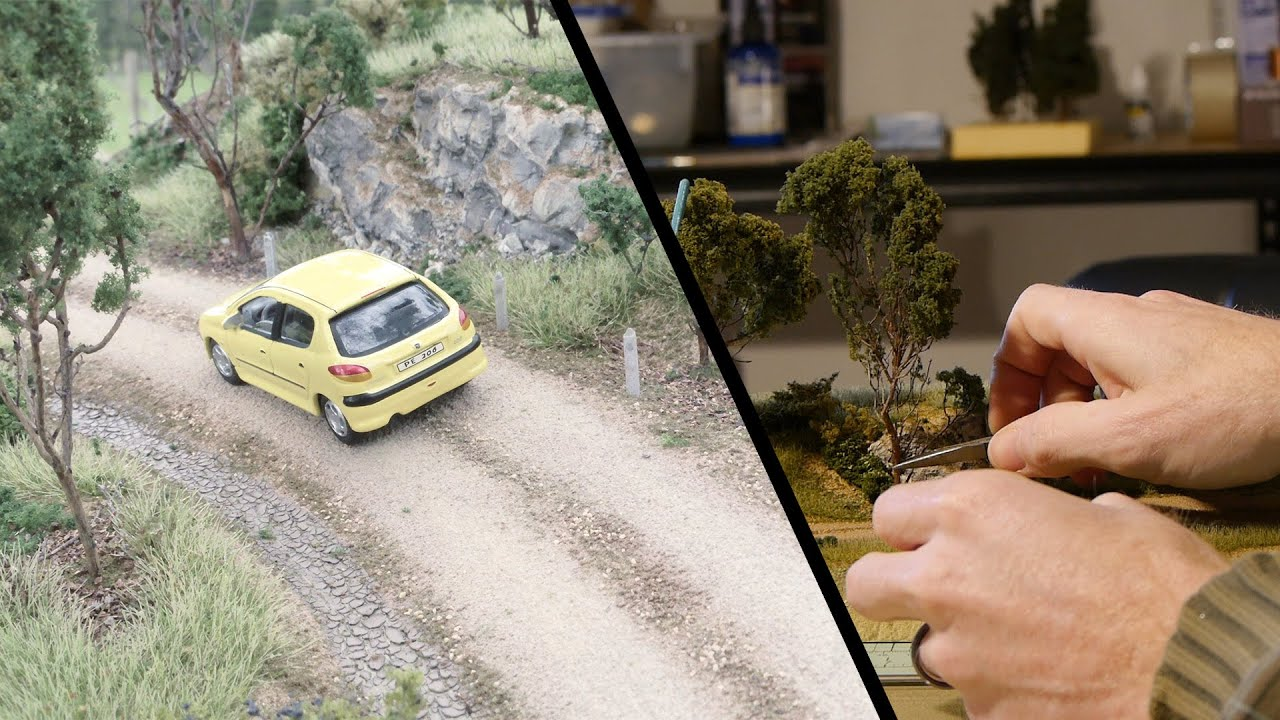 Realistic Scenery Volume 2 - Modelling an old dirt road - Model railroad