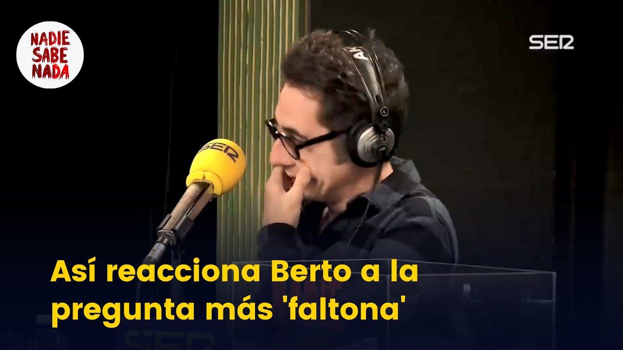 Así reacciona Berto a la pregunta más 'faltona' de un espectador