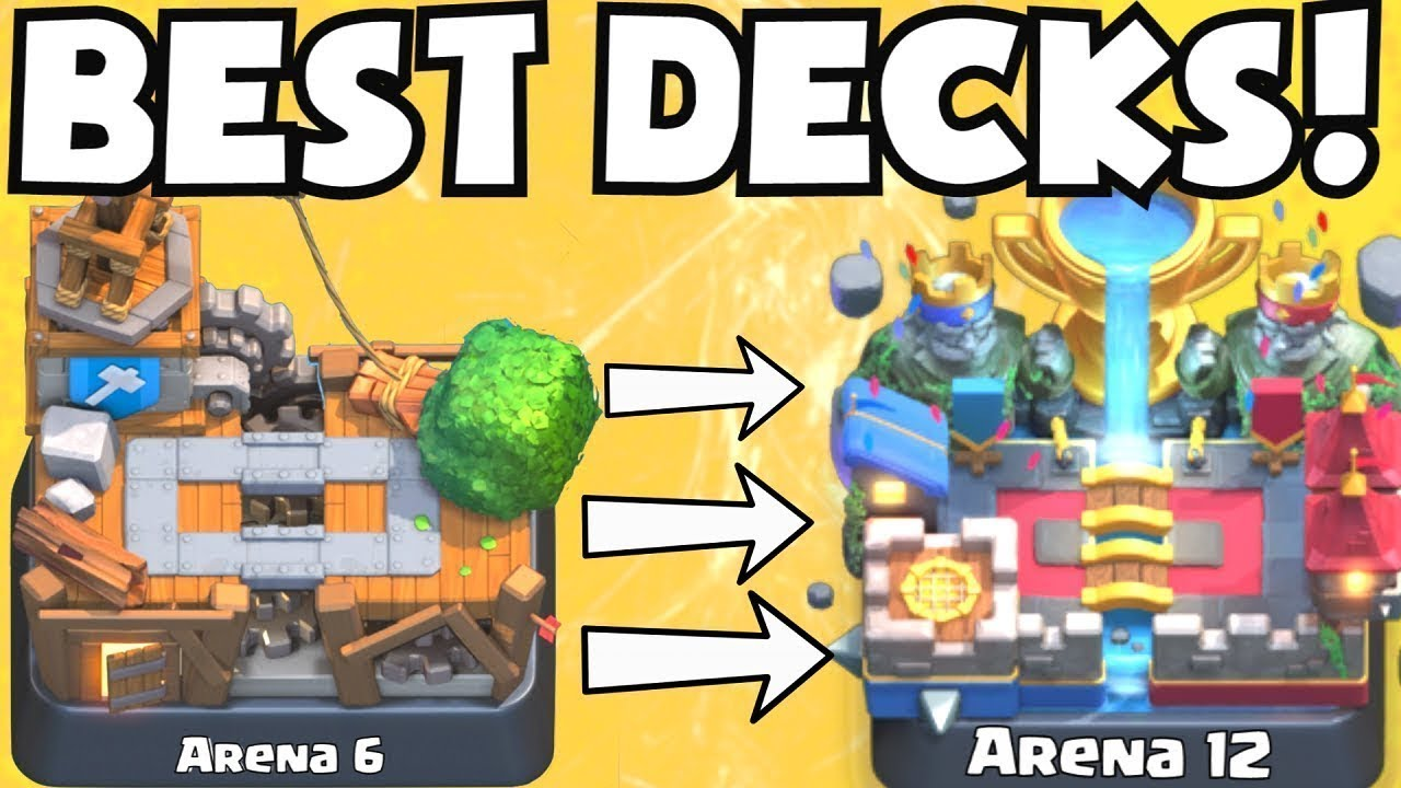 Best Ladder Decks Clash Royale 2020 Clash Royale BEST ARENA 6   ARENA 12 DECKS UNDEFEATED | BEST DECK