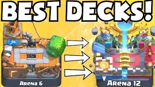 Clash Royale BEST ARENA 6 - ARENA 12 DECKS UNDEFEATED | BEST DECK ATTACK STRATEGY TIPS F2P PLAYERS