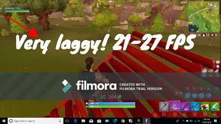 Playing Fortnite Battle Royale on a 4GB ram Laptop! Lowest quality! Getting 23-27 Frames per second!