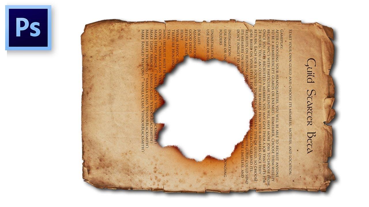 Photoshop Tutorial #05 | Cara Membuat Efek Kertas Robek Di ...