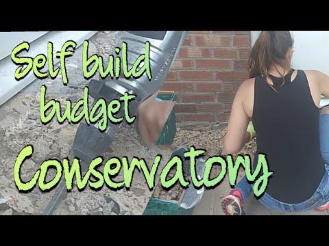Couple self build conservatory, DIY budget extra room