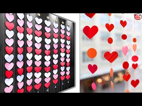 WOW! Beautiful - Heart Wall Hanging - DIY Paper Craft Idea !!!