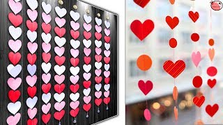 WOW! Beautiful - Heart Wall Hanging - DIY Paper Craft Idea !!!