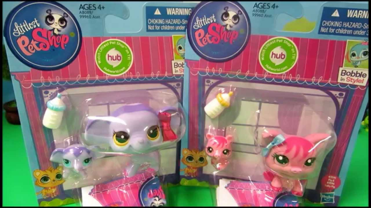 Lps Mommy And Babies Littlest Pet Shop Elephant And Pig