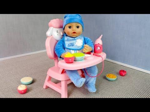 #Куклы НОВЫЙ  Интерактивный  СТУЛЬЧИК Для Кормления Мультик для девочек Мама Маша и Беби Бон Эмили