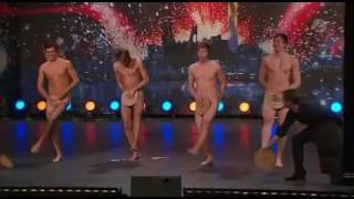 Sweden Got Talent 2009 (Talang sverige)  - Four Guys Dancing Naked [HQ] /w subtitles