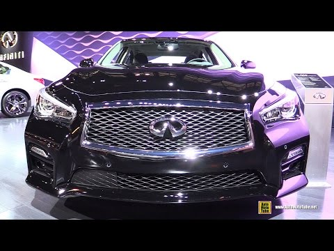 2016 Infiniti Q50 Red Sport 400 hp - Exterior and Interior Walkaround - 2016 Chicago Auto Show