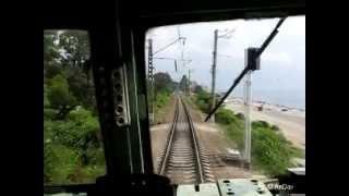 Из кабины электровоза ВЛ10-1300 на участке Лоо-Сочи(Из кабины электровоза постоянного тока ВЛ10-1300 на участке Лоо-Сочи (участок показан не полностью, только..., 2014-03-30T18:27:13.000Z)