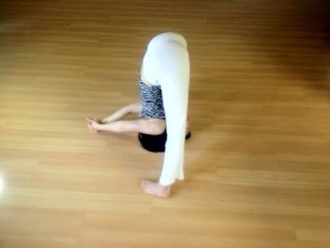 wide legs forward bend  youtube