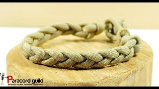 Simple braided paracord bracelet- single strand method