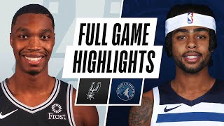 SPURS at TIMBERWOLVES | FULL GAME HIGHLIGHTS | January 10, 2021