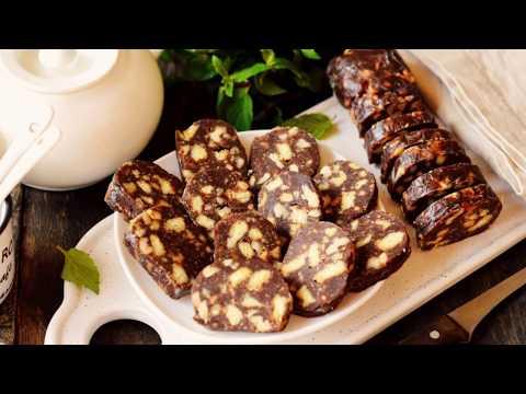 ШОКОЛАДНАЯ КОЛБАСА К ЧАЮ из печенья и какао (Очень вкусный рецепт) | Chocolate Sausage