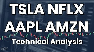 NFLX AAPL TSLA AMZN Technical Analysis Chart 08/21/2019 by ChartGuys.com