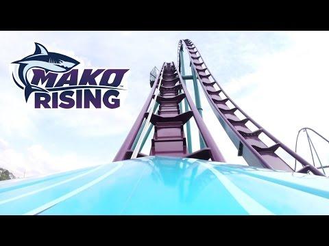 Mako First Test Run REAL POV + Hi-Res Images SeaWorld Orlando Hyper Roller Coaster New For 2016! B&M