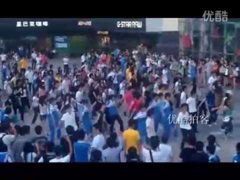 Flash mob remembers MJ in China`s Zhuhai