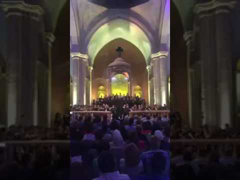 Music from the cathedral of #Aleppo #Syria after liberation from Al Qaeda rebels
