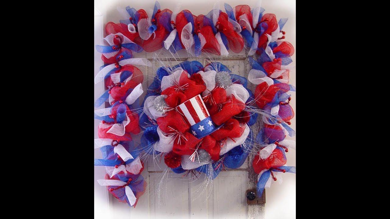 Patriotic Wreath Amp Garland Tutorial By Trendy Tree Youtube