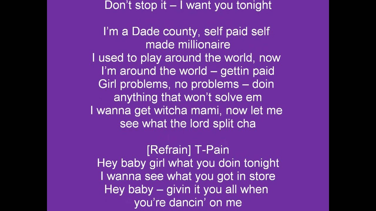 Marvelous PITBULL   Hey Baby (Drop It To The Floor)   Clip Parole (LYRICS)