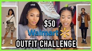 WHO DID IT BETTER?? $50 WAL-MART OUTFIT CHALLENGE