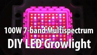 Diy 100w 7-band Multi-spectrum Led Growlight