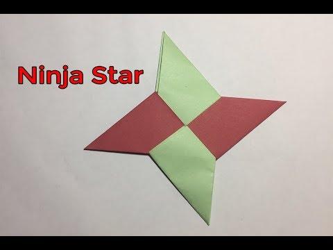 How To Make a Paper Ninja Star (Shuriken) - Easy origami Ninja Star for beginners making | PouKray