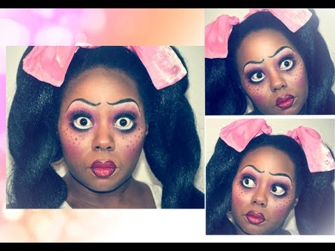 How to: Rag Doll Halloween Makeup Tutorial~9 - YouTube